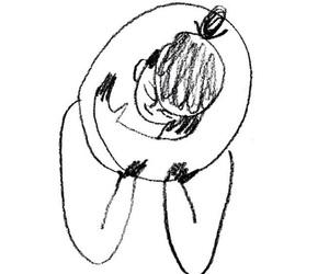 art, hug, and thought image