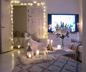 home, lights, and candle image