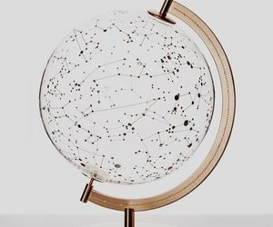 globe, stars, and aesthetic image
