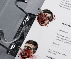 zombie, blood, and Paper image