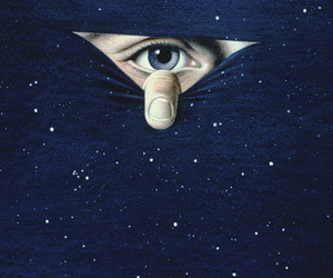 eye, art, and stars image
