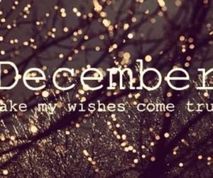 december, christmas, and wish image