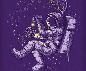 stars, space, and astronaut image