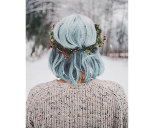 blue, hair, and holiday image