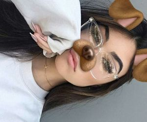 girl, madison beer, and glasses image