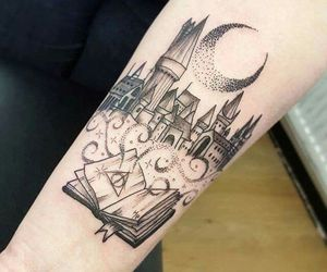 harry potter, tattoo, and hogwarts image