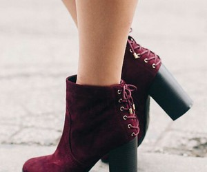 burgundy booties, burgundy ankle booties, and fashion booties image