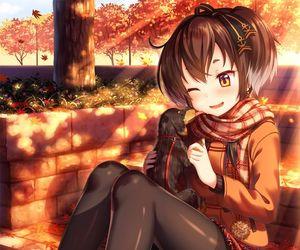 anime, anime girl, and dog image