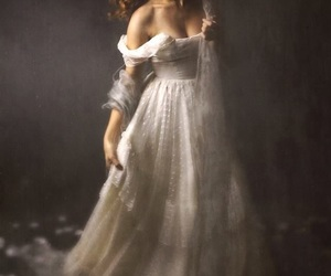ball gown, dress, and fairytale image