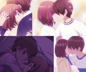 anime girl, boy, and girl image