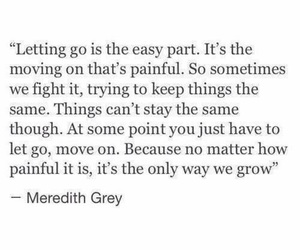 greys anatomy, meredith grey, and holding on image