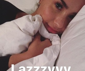 sleeping, queen d, and demi lovato image