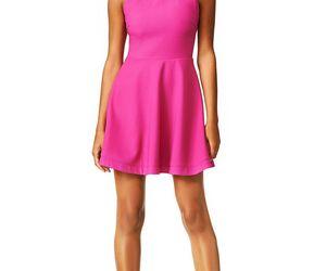 mini length dress, sleeveless dress, and fuchsia dress image