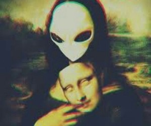 alien, mona lisa, and art image