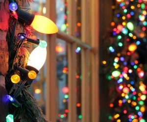 christmas lights, decorations, and pretty image