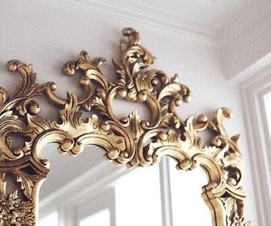 mirror, gold, and vintage image
