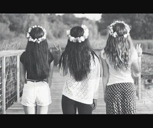 black and white, tumblr, and friendship goals image