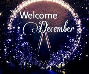 christmas, new year, and welcome december image