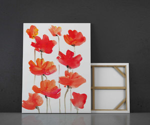 bedroom, canvas print, and floral print image