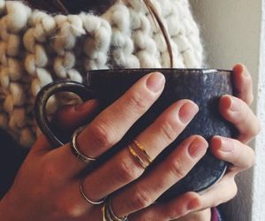 coffee, rings, and tumblr image