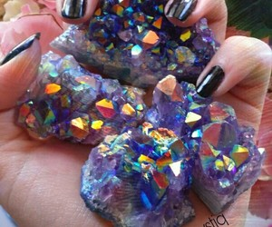 amethyst, aura, and colorful image