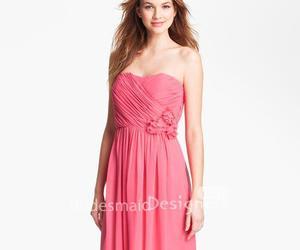 chiffon bridesmaid dress and fuchsia bridesmaid dress image