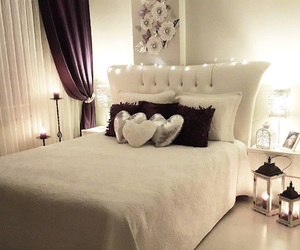 bed bedroom room, beautiful love glam, and fashion image