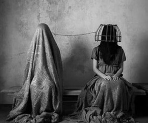 creepy, faceless, and macabre image