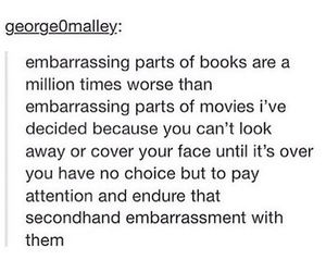 books, funny, and tumblr text post image
