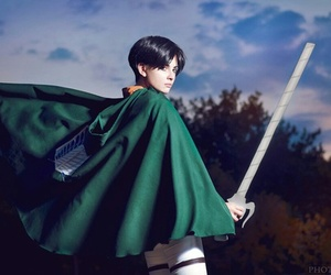 cosplay, aot, and levi image