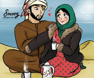arabic, cartoon, and cold image