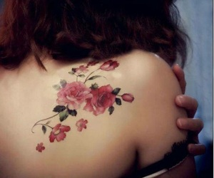 creative, flower, and tattoo image
