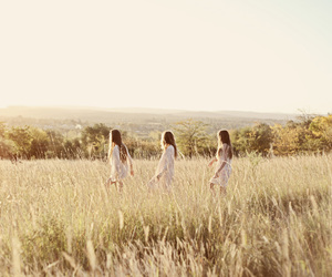 girls, nature, and friends image