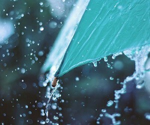 rain, umbrella, and blue image