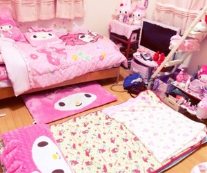 pink, my melody, and room image