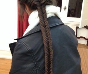 braid, winter, and fishtail image