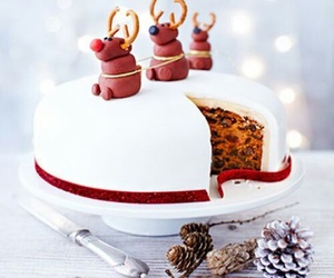 christmas, cake, and food image