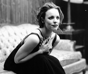 rachel mcadams, black and white, and actress image