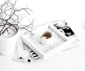 coffee, white, and magazine image