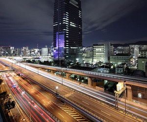 city, nightlife, and road image
