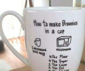brownies, cup, and diy image