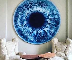 eye, room, and blue image