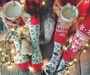 christmas, winter, and socks image