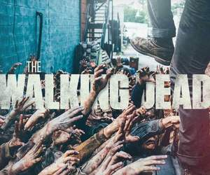 serie, twd, and zombie image