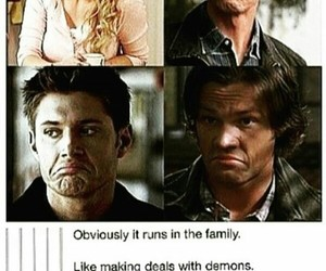 supernatural, deanwinchester, and johnwinchester image