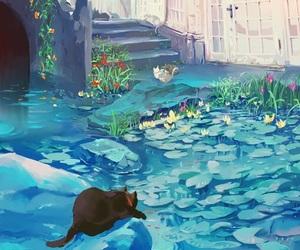cat, anime, and manga image