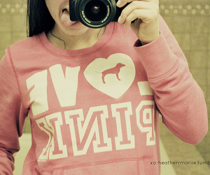 girl, pink, and love image