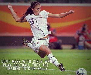 football, soccer, and girl image