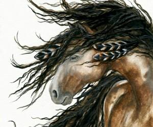 horses- native american image