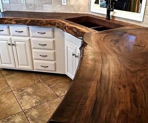 counter, wood, and kitchen inspiration image